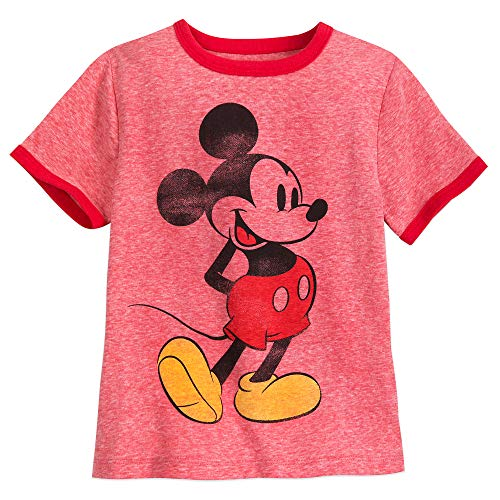 Disney Mickey Mouse Classic Ringer T-Shirt for Boys Size M (7/8) Multi