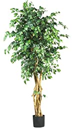 Nearly Natural 5216 Palace Style Ficus Silk Tree, 6-Feet, Green