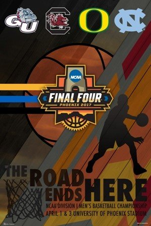 2017 Official Ncaa Final Four March Madness Basketball 4 Team Logos Print Poster