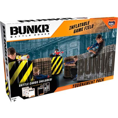 BUNKR Inflatable Battlezone Tournament Set (5 Piece), City Zone. (Compatible with Nerf, Laser X, X-Shot and Boomco), -