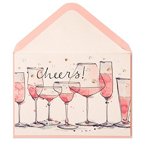 Papyrus Cheers Watercolor Champagne (Sparkling Watercolor)