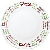 Confezione 6 Piatti da Pizza Piatto per Pizza Bormioli Ronda Bajo Plato diametro 33cm in vetro opale MADE IN ITALY co.9326