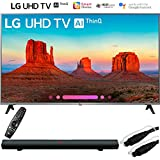 LG 55UK7700PUD 55 Class 4K HDR Smart LED AI UHD TV w/ThinQ (2018 Model) with Sharper Image 37 Sound Bar Bluetooth Speaker With Optical Input and 6ft Optical Toslink 5.0mm OD Audio Cable