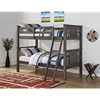 DONCO Kids 316TTSG Princeton Bunk Bed, Twin/Twin, Slate Gray