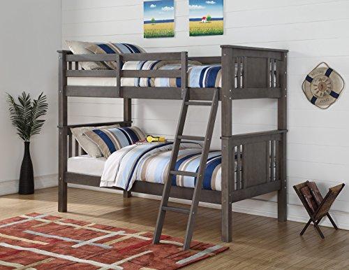 Donco Kids 316Ttsg Princeton Bunk Bed, Twin/Twin, Slate Gray ()