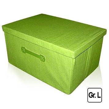 Wundervoll 41,7 Liter Faltbox Größe L Aufbewahrungsbox mit Deckel Textil Box  AG41