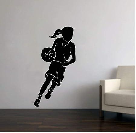 Etiqueta de la pared Baloncesto Chica Pegatinas de pared para ...