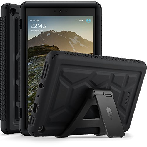 Poetic-TurtleSkin-All-New-Amazon-Fire-HD-8-2017-Rugged-Case-Heavy-Duty-Silicone-and-Sound-Amplification-feature-Cover-for-Amazon-Fire-HD-8-2017-7th-Generation2017-Release-Black