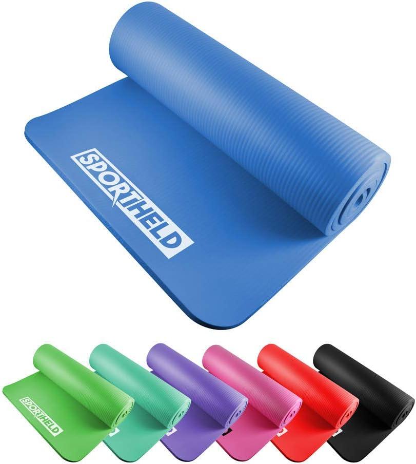 7 Farben Sportheld/® Profi Yoga-Matte 182 x 60 x 1,5 cm dick