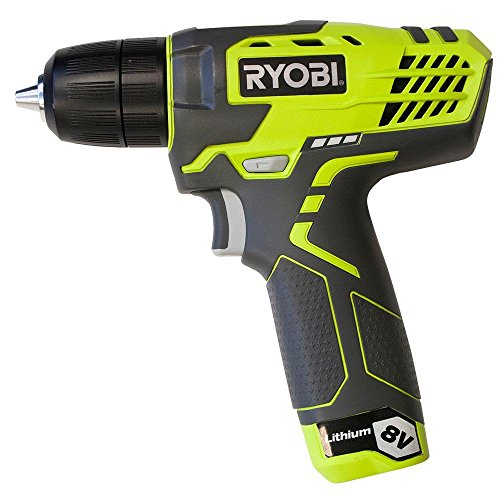 Ryobi ZRHP108L 8V Cordless Lithium-Ion 3/8 in. Drill Kit