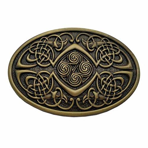 Celtic Knot Oval Belt Buckle Bronze