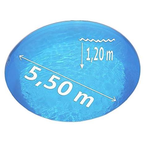 Blaue Innenh/ülle f/ür Stahlwandbecken Ersatzfolie f/ür Runbecken mit Einh/ängebiese 0,40 mm /Ø 3,50 x 1,20 m