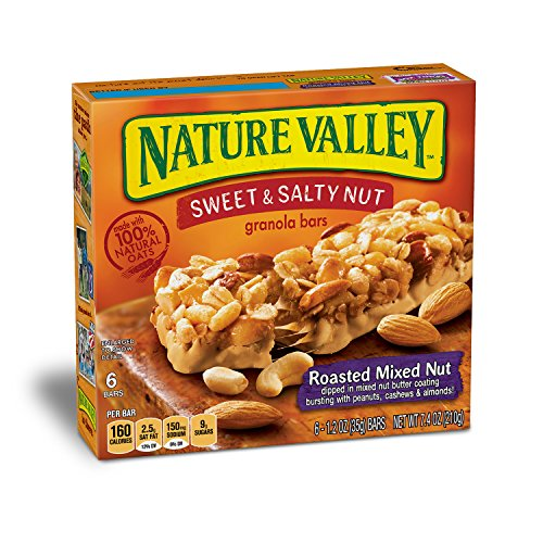 Roasted Sweet Fruit (Nature Valley Granola Bars, Sweet and Salty Nut, Roasted Mixed Nut, 1.2 oz, 6 Bars  (Pack of 6))
