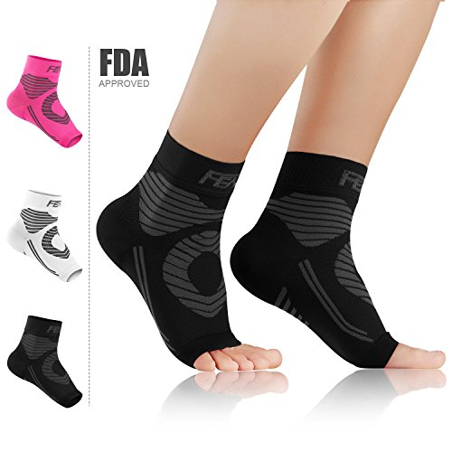 Featol Plantar Fasciitis Socks(1 PAIR) with Arch Support Ankle Support for Men and Women, Ankle Compression Socks Foot Sleeve to Relieve Arch Pain, Better than Night Splint (Athletic Shoes Arch Support)