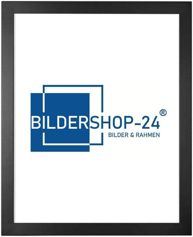 Bildershop-24 Cadre Photo Monza 21 x 29,7 cm (DIN A4) Noir (Mat)