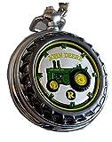 John Deere Franklin Mint Pocket Watch Model R Tractor LE, New