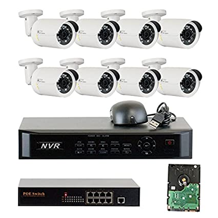 8 channel 1080p nvr security system with 8 x hd 960p megapixel outdoor indoor bullet - Nvr Security System