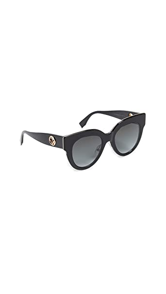 Fendi FF 0360/G/S BLACK (807 9O) - Gafas de sol: Amazon.es ...
