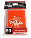 Sleeves - Monster Protector Sleeves - Smaller Size Gloss Finish w/Logo - Orange (Fits Yugioh and Other Smaller Sized Gaming Cards)