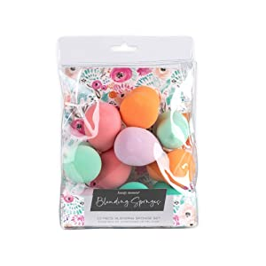 Jacky and Lauren Makeup Sponge Set 10 Piece Beauty Blender Sponge With Watercolor Floral Packaging