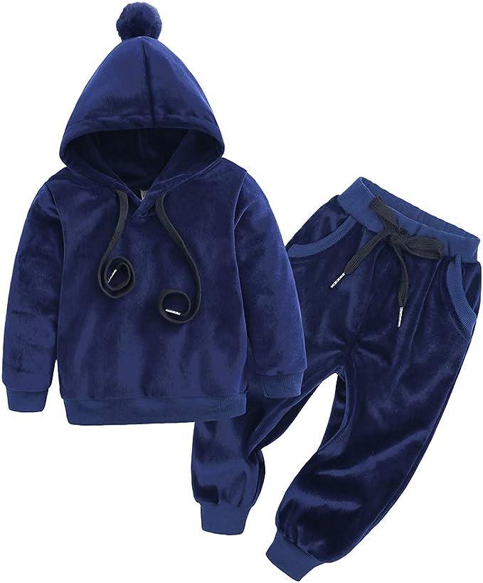 BEDHRT - Conjunto de chándal de manga larga con capucha, abrigo y ...