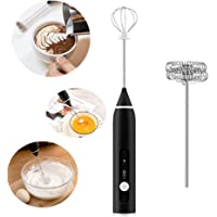 Rechargeable Milk Frother 3 Speeds Handheld Foam Maker with Stainless Whisk for Coffee, Latte, Cappuccino, Chocolate, Milk Tea, Coconut Milk, Durable Frother Drink Mixer