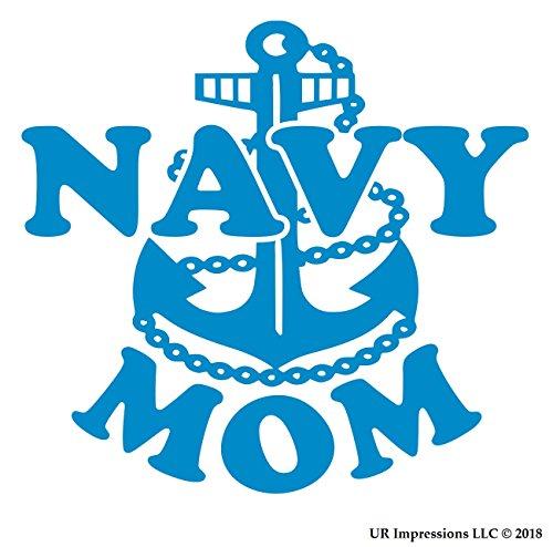 UR Impressions OBlu Navy Mom Decal Vinyl Sticker Graphics for Car Truck SUV Van Wall Window Laptop|Olympic Blue|5.5 Inch|URI332-OB