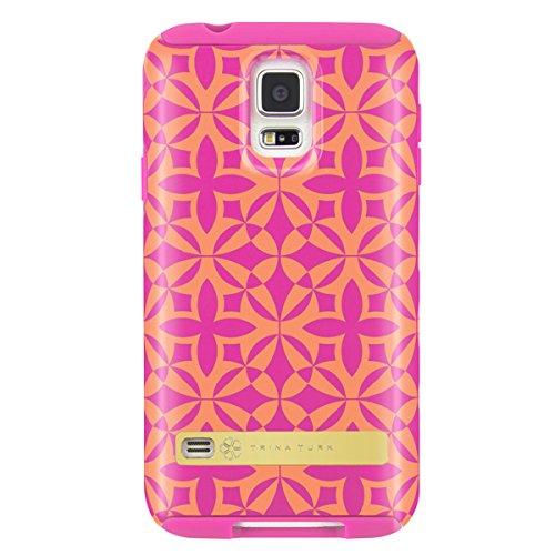 (Samsung Galaxy S5 Case, [Protective] Trina Turk Dual Layer Case Case for Samsung Galaxy S5-Francie Foulard)