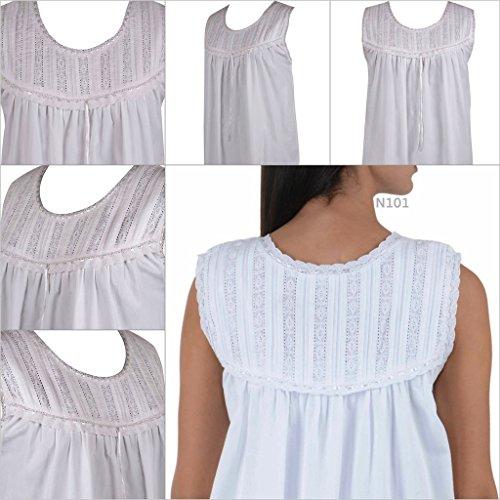 Cotton Lane Coton Blanc Victorian Vintage Nuisette. Tailles franaise 36-62