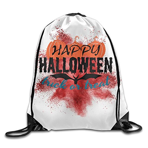 Happy Halloween Trick Or Treat Folding Sport Backpack Drawstring Bag Customize Fashion (Creative Homemade Halloween Treats)
