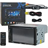 Axxera Car audio Double Din 2DIN 6.2 LCD Touchscreen 2-way Dual Mirror DVD MP3 CD stereo built-in Bluetooth + Remote & DCO Waterproof Backup Camera with Nightvision