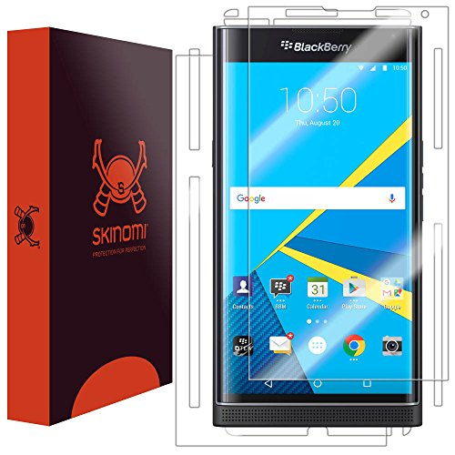 Skinomi Brushed Aluminum Full Body Skin Compatible with BlackBerry Priv TechSkin with Anti-Bubble Clear Film Screen Protector Full Coverage