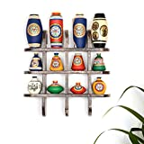 ExclusiveLane 12 Terracotta Warli Handpainted Vases With Antique Wooden Frame Wall Shelf - Wooden Wall DÃcor Art Decorative Shelves Vases Home DÃcor