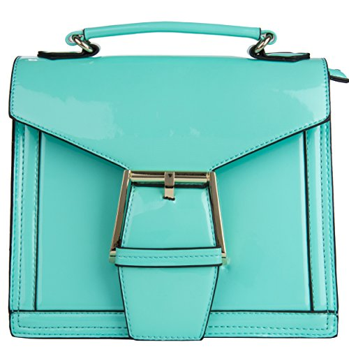 VanGoddy Womens Couture Fashion Dulce Mini Satchel for All Cell Phones (Mint) (Couture Satchel)