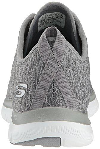 11 2 Donna Us Grigio Appeal 0 Skechers Impressions Flex First AEvq8