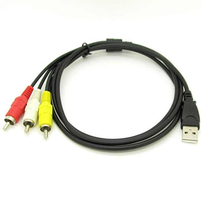 Amazon.com: 3 RCA Male To USB 2.0 Male A Composite Adapter Audio Video AV HDD DVR Cable: Home Audio & Theater