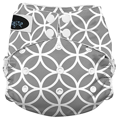 Price comparison product image Imagine Baby Products Stay Dry All-In-One Snap Diaper,  Ring-a-Ding