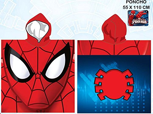 PONCHO PLAYA SPIDER-MAN TOALLA PLAYA EXCLUSIVA ROJO MICROFIBRA Marvel