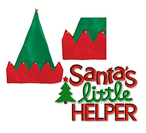 Santas Little Helper Christmas House Elf Hat with Bells, 16 (Homemade Halloween Minnie Mouse Costumes)
