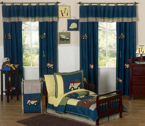 Sweet Jojo Designs Construction Zone Bed Skirt for Toddler Bedding Sets