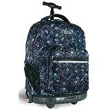 Sunrise Rolling Backpack Color: Love Black, Bags Central
