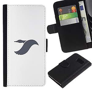 LASTONE PHONE CASE / Lujo Billetera de Cuero Caso del tirón Titular de la tarjeta Flip Carcasa Funda para Samsung Galaxy S6 SM-G920 / Dayan flying