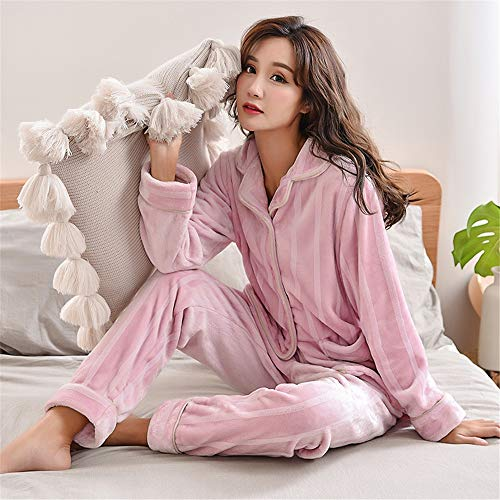 sleeved 178cm Winter Women's And 80 Large Thick Pajamas Warm 90kg Coral Pajamasx Service Fleece Size Home Suit Cardigan Xxxl165 Autumn Long w85UqntI