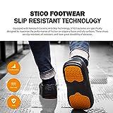 Stico Men's Slip Resistant Chef Clogs, Professional Non-Slip Work Shoes with Air Vents for Restaurant Hospital Nursing Garden [Black/US Men
