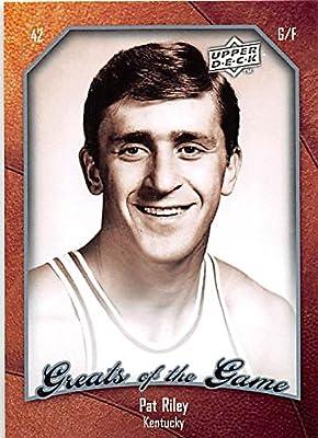 Pat Riley Basketball Card (Kentucky Wildcats) 2010 Upper Deck Greats of the Game #22