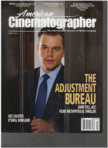 American Cinematographer Magazine (The Adjustment Bureau, March 2011)
