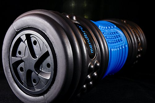 RPM - 4-speed vibrating foam massage roller. Deep reaching and targeted massager, created for the active person. Compact for travel, 3 hours of premium battery life and quiet motor. by MendBro, Inc. (Image #3)