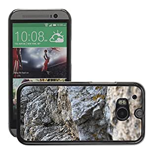 Hot Style Cell Phone PC Hard Case Cover // M00310724 Rock Stone Nature // HTC One M8