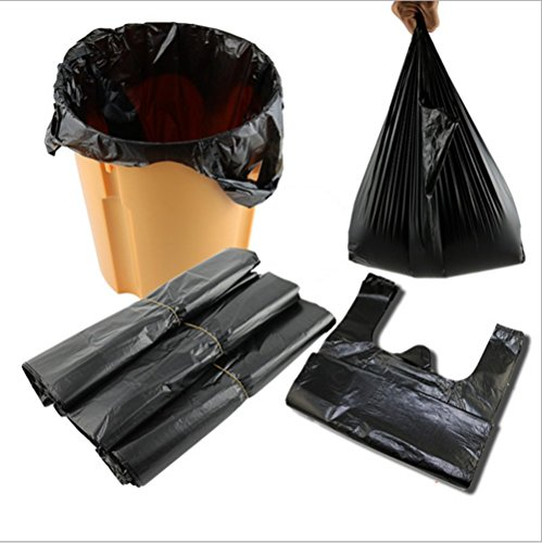 Small Garbage Bag Strong Durable Disposable Kitchen Trash Wastebasket Bags Can Liners for Home, Office, Waste Bin, Bathroom - 2Gallon, 100 Counts Black (Black)