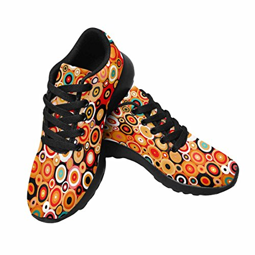 Chaussures De Course De Trailprint Womensprint Footing Jogging Sports Légers Marchant Des Baskets Athlétiques Motif Géométrique Avec Des Points Et Des Cercles Dans Le Style Disco Multi 1